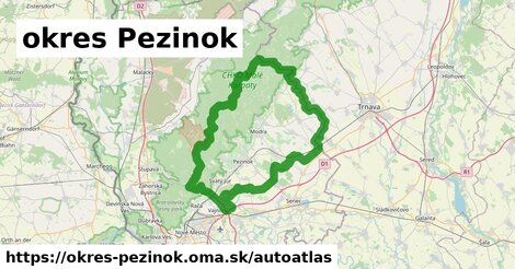 ikona Mapa autoatlas  okres-pezinok
