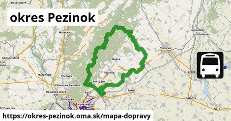 ikona Mapa dopravy mapa-dopravy  okres-pezinok