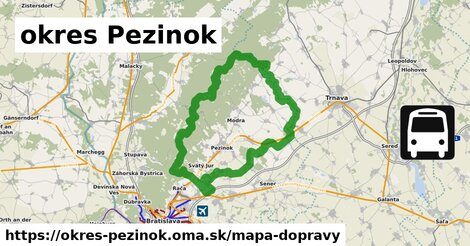 ikona okres Pezinok: 1140km trás mapa-dopravy  okres-pezinok