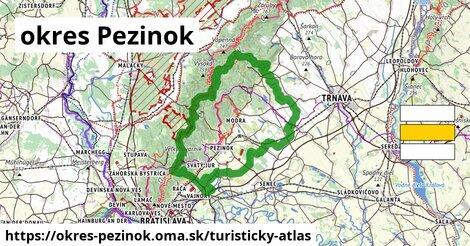 ikona okres Pezinok: 258km trás turisticky-atlas  okres-pezinok