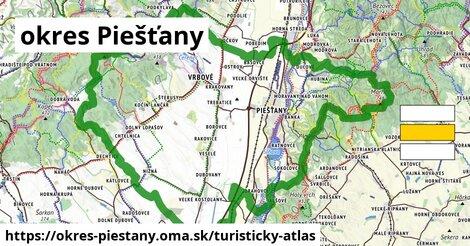 ikona okres Piešťany: 114km trás turisticky-atlas  okres-piestany