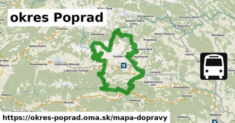 ikona okres Poprad: 293km trás mapa-dopravy  okres-poprad