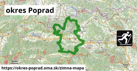 ikona okres Poprad: 48km trás zimna-mapa  okres-poprad