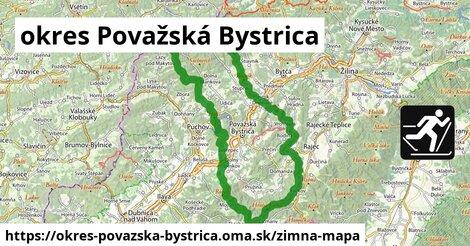 ikona okres Považská Bystrica: 15km trás zimna-mapa  okres-povazska-bystrica