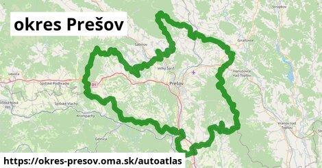 ikona Mapa autoatlas  okres-presov