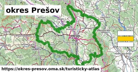 ikona Turistická mapa turisticky-atlas  okres-presov