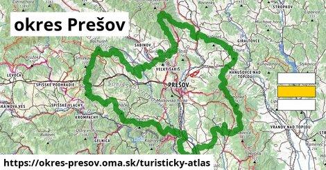 ikona okres Prešov: 681km trás turisticky-atlas  okres-presov