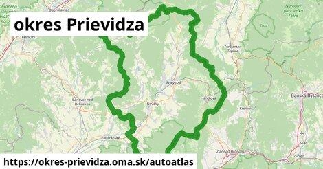 ikona Mapa autoatlas  okres-prievidza