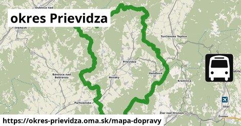 ikona Mapa dopravy mapa-dopravy  okres-prievidza