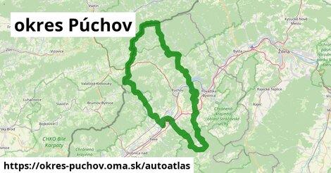 ikona Mapa autoatlas  okres-puchov