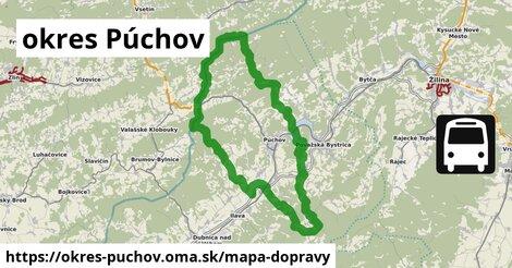 ikona Mapa dopravy mapa-dopravy  okres-puchov