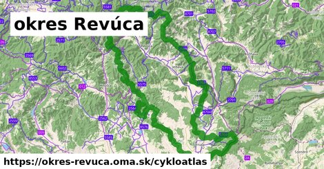ikona okres Revúca: 222km trás cykloatlas  okres-revuca