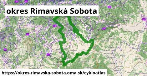 ikona okres Rimavská Sobota: 248km trás cykloatlas  okres-rimavska-sobota