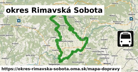 ikona Mapa dopravy mapa-dopravy  okres-rimavska-sobota