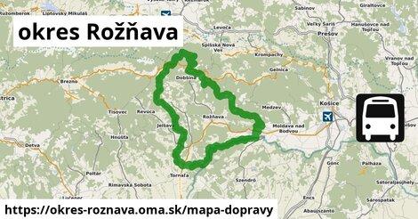 ikona okres Rožňava: 49km trás mapa-dopravy  okres-roznava