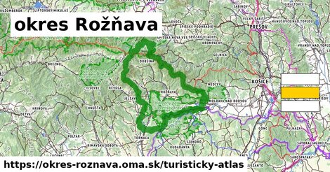 ikona okres Rožňava: 735km trás turisticky-atlas  okres-roznava