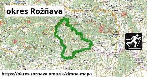 ikona okres Rožňava: 22km trás zimna-mapa  okres-roznava