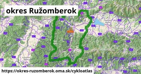 ikona okres Ružomberok: 323km trás cykloatlas  okres-ruzomberok