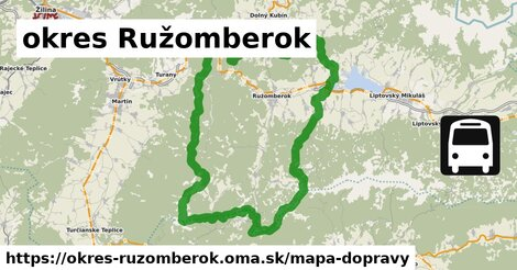 ikona okres Ružomberok: 58 km trás mapa-dopravy  okres-ruzomberok