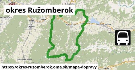 ikona okres Ružomberok: 58km trás mapa-dopravy  okres-ruzomberok