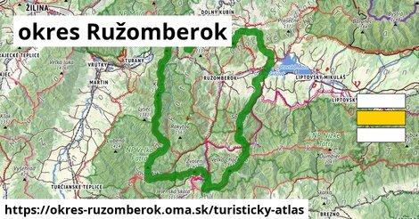 ikona okres Ružomberok: 401km trás turisticky-atlas  okres-ruzomberok
