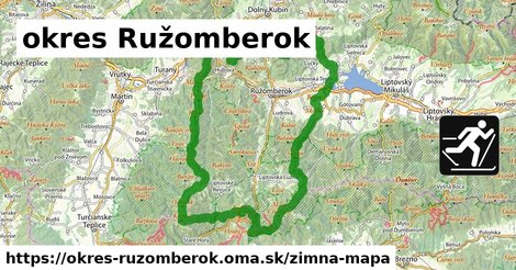 ikona okres Ružomberok: 25km trás zimna-mapa  okres-ruzomberok