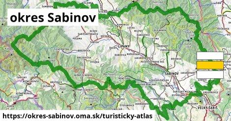 ikona Turistická mapa turisticky-atlas  okres-sabinov