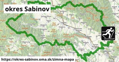 ikona okres Sabinov: 38km trás zimna-mapa  okres-sabinov