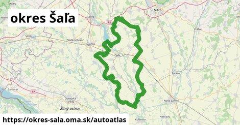 ikona Mapa autoatlas  okres-sala