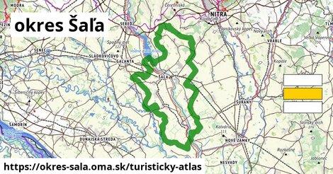 ikona okres Šaľa: 29km trás turisticky-atlas  okres-sala