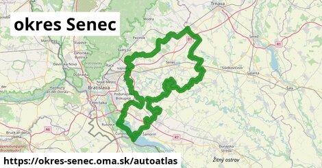 ikona Mapa autoatlas  okres-senec