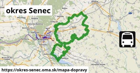 ikona okres Senec: 1143km trás mapa-dopravy  okres-senec