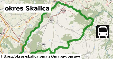 ikona Mapa dopravy mapa-dopravy  okres-skalica