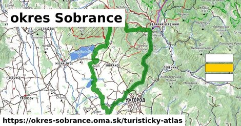 ikona Turistická mapa turisticky-atlas  okres-sobrance