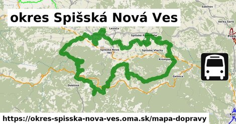 ikona okres Spišská Nová Ves: 852km trás mapa-dopravy  okres-spisska-nova-ves