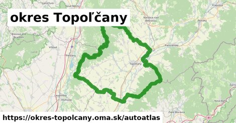 ikona Mapa autoatlas  okres-topolcany