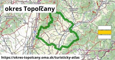 ikona okres Topoľčany: 126km trás turisticky-atlas  okres-topolcany
