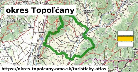 ikona Turistická mapa turisticky-atlas  okres-topolcany