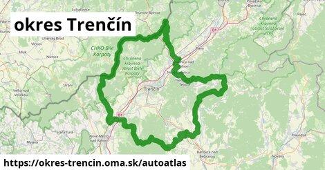 ikona Mapa autoatlas  okres-trencin