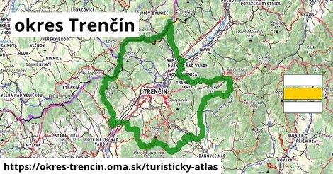 ikona okres Trenčín: 410km trás turisticky-atlas  okres-trencin