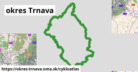 ikona okres Trnava: 230km trás cykloatlas  okres-trnava