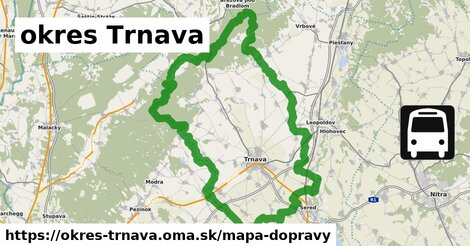 ikona okres Trnava: 369km trás mapa-dopravy  okres-trnava