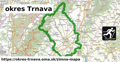 ikona okres Trnava: 112m trás zimna-mapa  okres-trnava