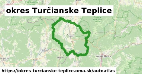 ikona Mapa autoatlas  okres-turcianske-teplice