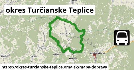 ikona okres Turčianske Teplice: 22km trás mapa-dopravy  okres-turcianske-teplice