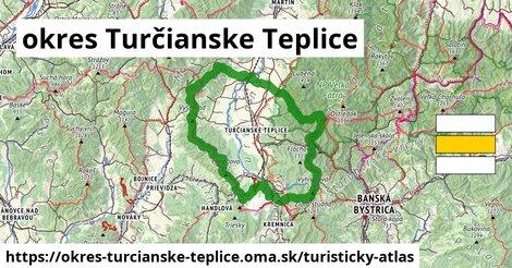 ikona okres Turčianske Teplice: 173km trás turisticky-atlas  okres-turcianske-teplice