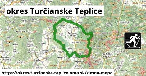 ikona okres Turčianske Teplice: 77km trás zimna-mapa  okres-turcianske-teplice