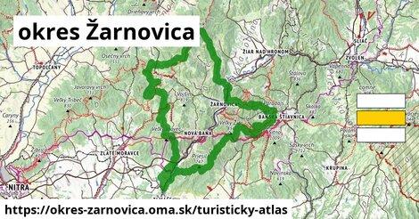 ikona Turistická mapa turisticky-atlas v okres-zarnovica