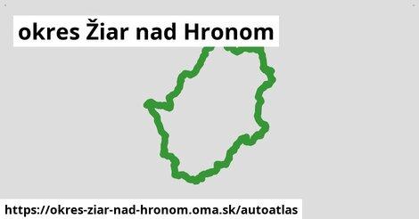 ikona Mapa autoatlas  okres-ziar-nad-hronom