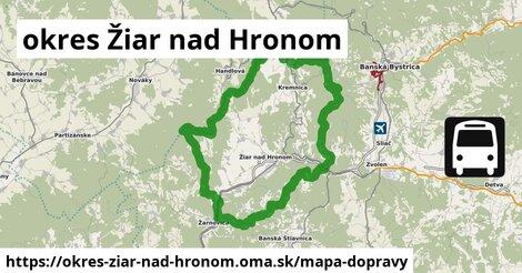 ikona Mapa dopravy mapa-dopravy  okres-ziar-nad-hronom